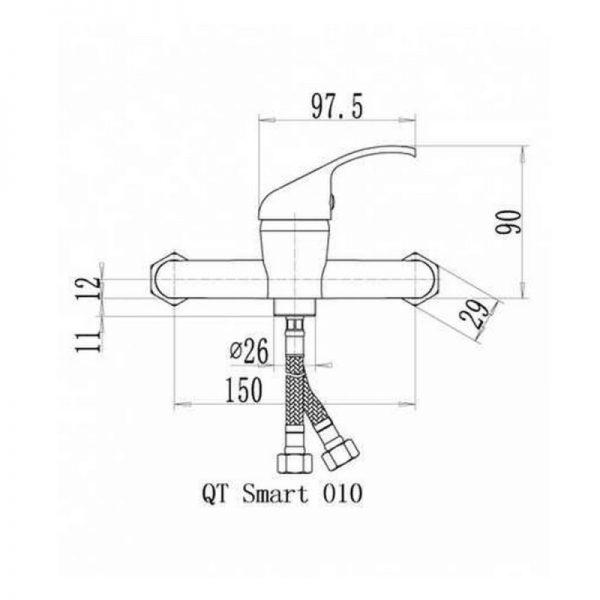 Смеситель для душа Q-tap Smart СRM 010