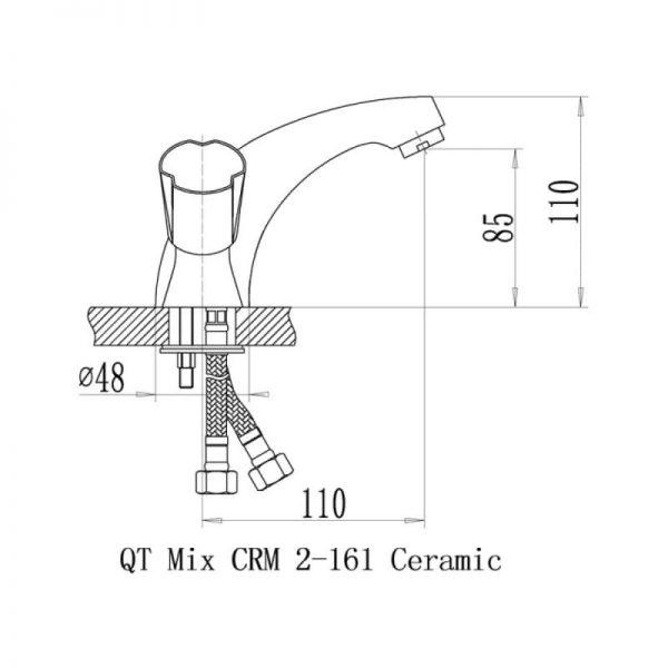 Смеситель для умывальника QT Mix CRM 161