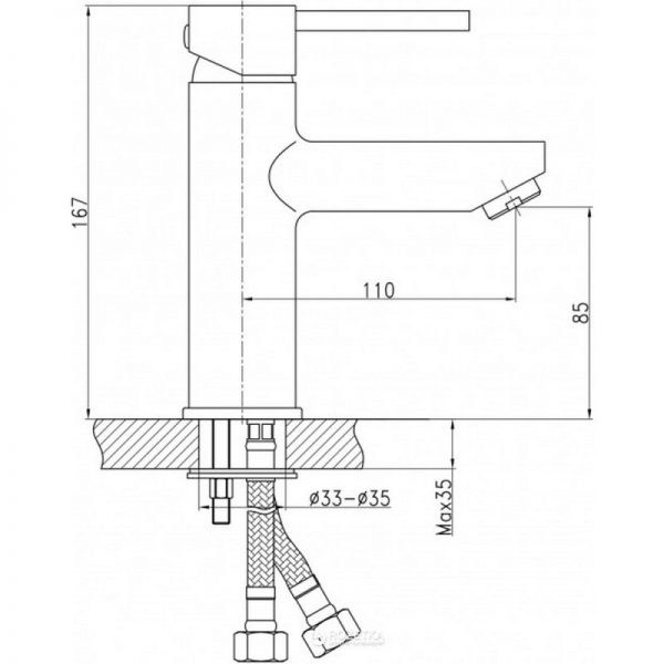 Смеситель для умывальника QT Spring CRM 001