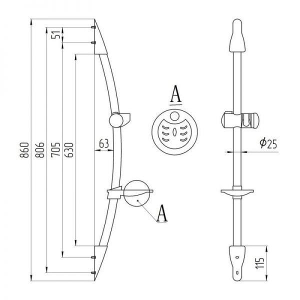 Душевая стойка Q-tap 008