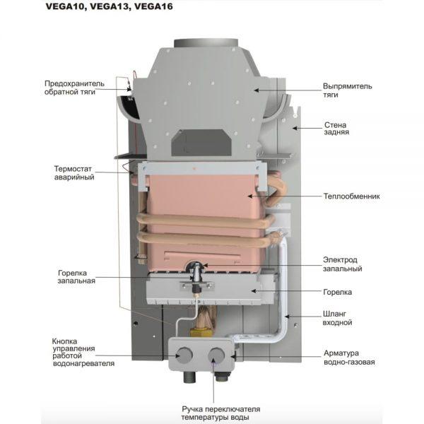 Газовая колонка Mora-Top VEGA 13