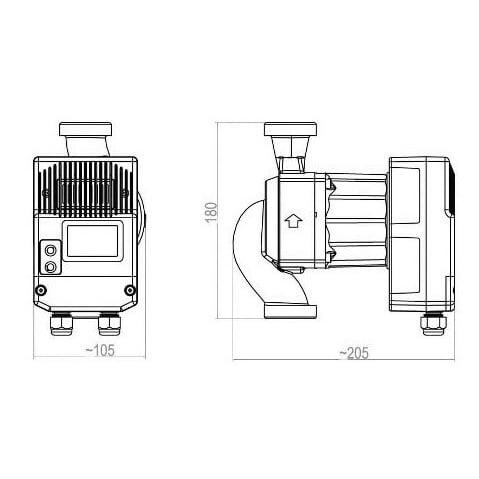 Циркуляционный насос Roda Delta HE120-32-180