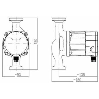 Циркуляционный насос Roda Delta HE35-25-180