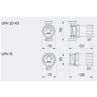 Циркуляционный насос Roda UPH 15-15E2