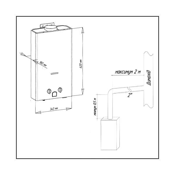 Газовая колонка Aquatronic JSD20-A308 Пляж