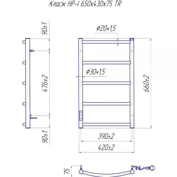 Полотенцесушитель Mario Классик HP-I 800х530 TR