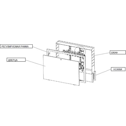 Шкаф коллекторный Icma №196 500
