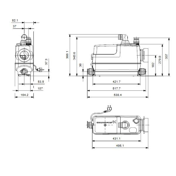 Установка Grundfos Sololift2 CWC-3 (97775316)