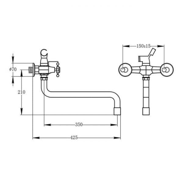 Смеситель в ванную Q-tap Impero CRM 140