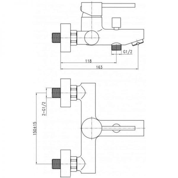 Смеситель в ванную Q-tар Spring CRM 006