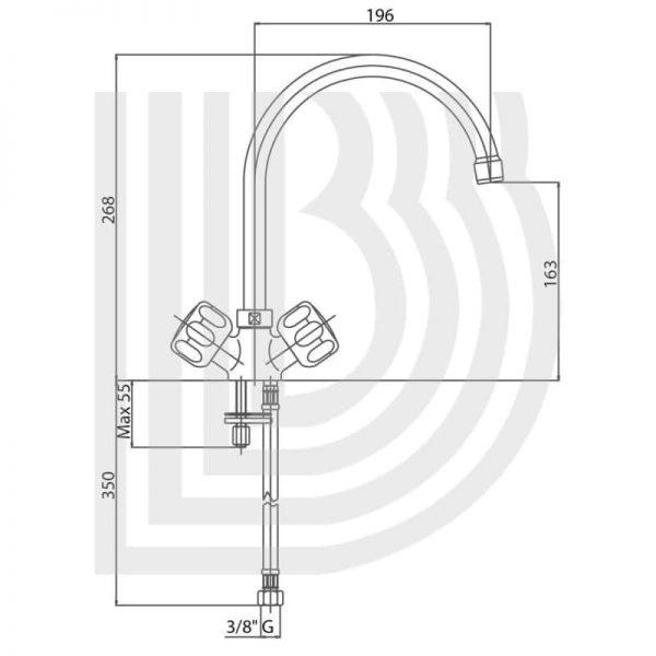 Смеситель для кухни Bianchi Costa LVMSUN 755CSTA CRM