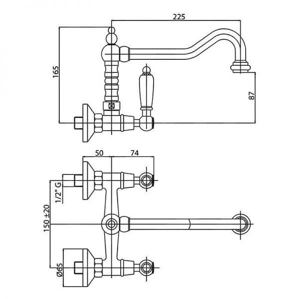 Смеситель для кухни Bianchi First LVPFRS 1038026 CRM