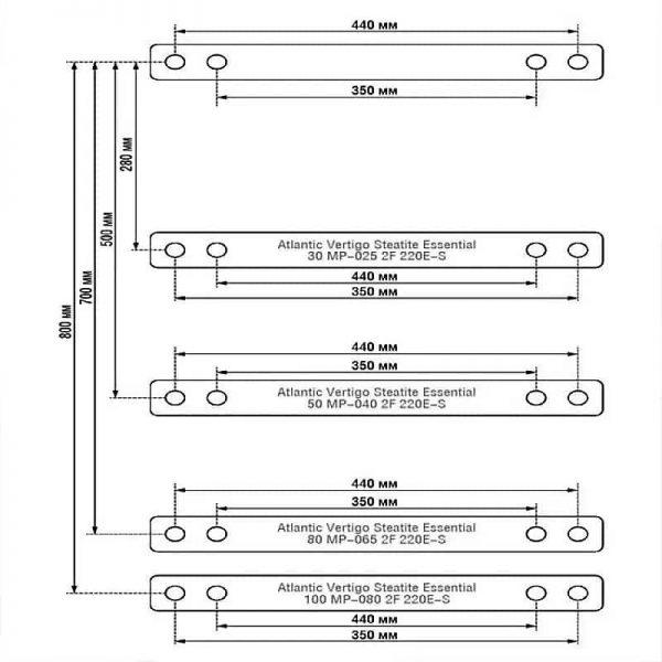 Водонагреватель Atlantic Vertigo Steatite Essential 100 MP 080 2F-220E-S
