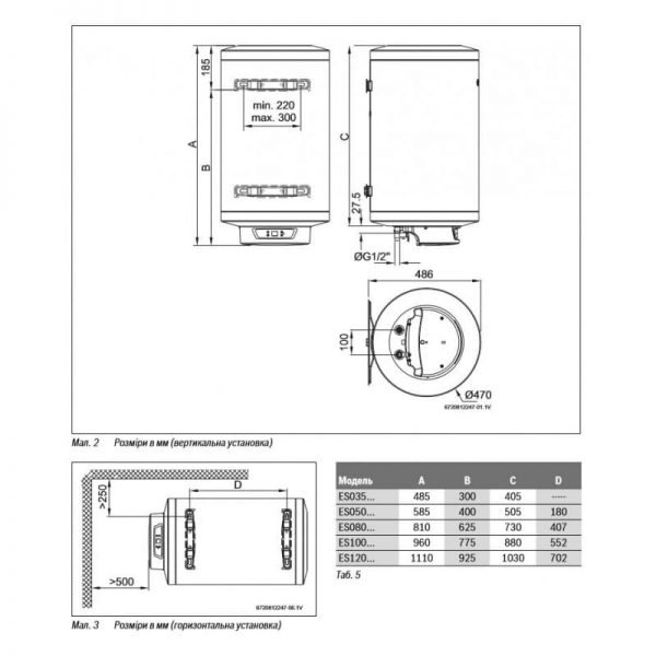Водонагреватель Bosch Tronic 8000 Т ES 080-5E 0 WIR-B