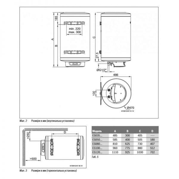 Водонагреватель Bosch Tronic 8000 Т ES 120-5E 0 WIR-B