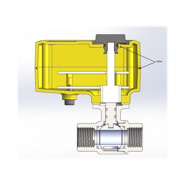 Кран с электроприводом Neptun Profi 220В 1/2″