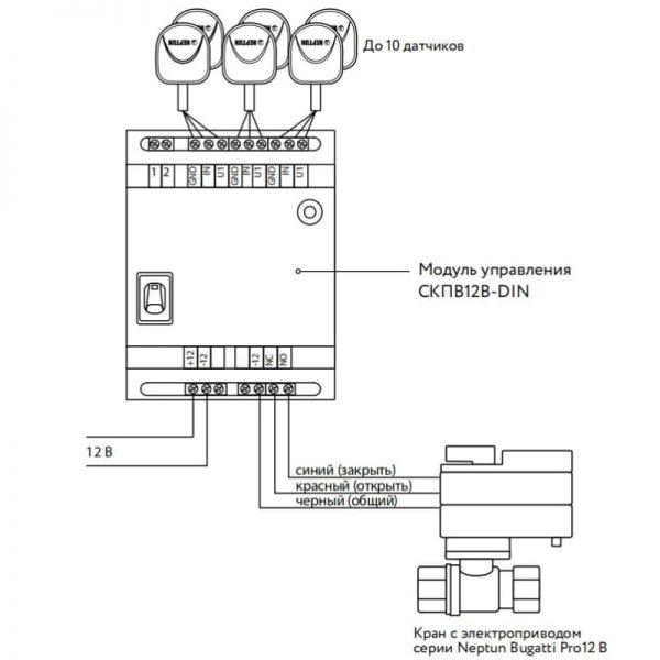 Модуль управления Neptun СКПВ12В-DIN
