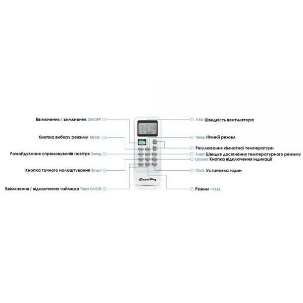 Кондиционер SmartWay SAF/SAN-12VGS UA VEGAS