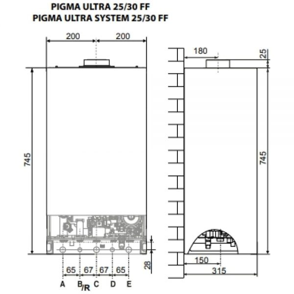 Котел газовый Chaffoteaux PIGMA ULTRA SYSTEM 30 FF