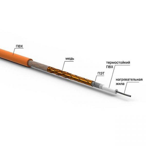 Нагревательный кабель Ratey RD1 670