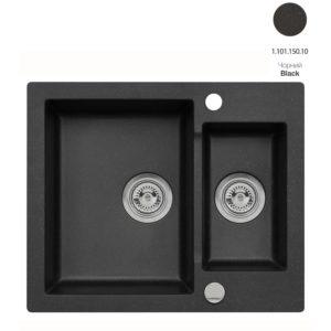 Кухонная мойка AXIS Mojito 80 Black (1.101.150.10)