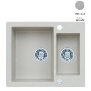 Кухонная мойка AXIS Mojito 80 Concrete (1.101.150.59)