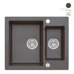 Кухонная мойка AXIS Mojito 80 Dark Chocolate (1.101.150.30)