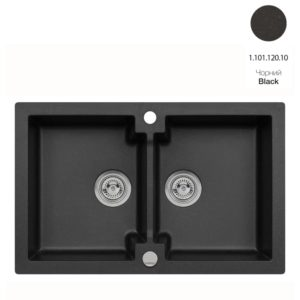 Кухонная мойка AXIS Mojito 160 Black (1.101.120.10)
