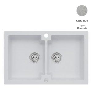 Кухонная мойка AXIS Mojito 160 Concrete (1.101.120.59)