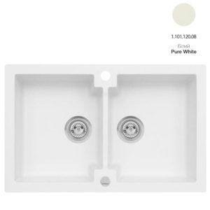 Кухонная мойка AXIS Mojito 160 Pure White (1.101.120.08)