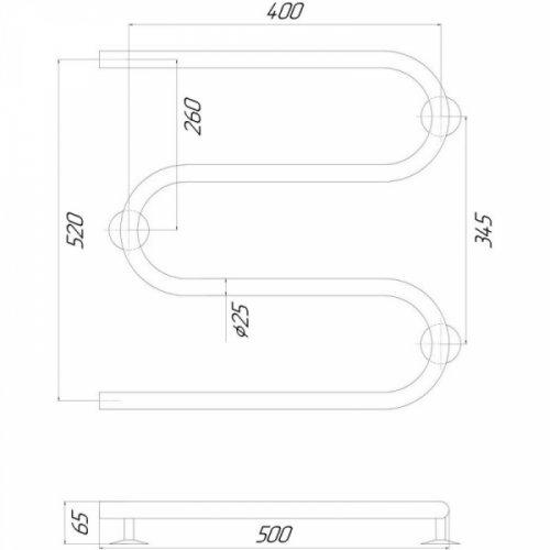 Полотенцесушитель Q-tap Snake (CRM) 500х500 LE