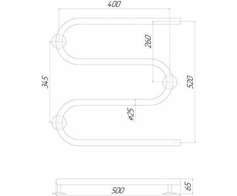 Полотенцесушитель Q-tap Snake (CRM)500х500 RE