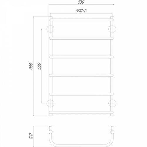 Полотенцесушитель Q-tap Standard (CRM) P6500х800 LE