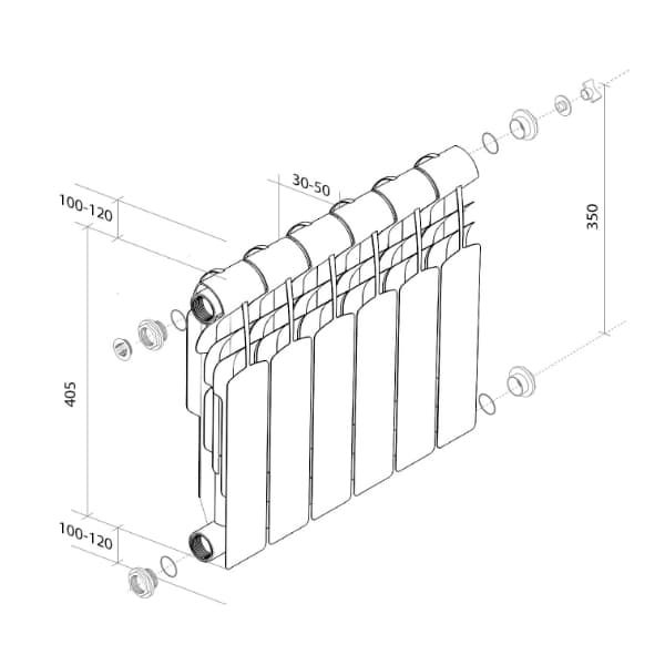 Радиатор Royal Thermo Vittoria 350 (10 секций)