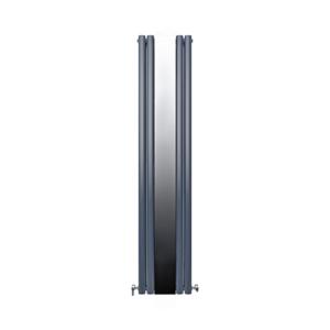 Радиатор дизайнерский IDEALE ADRIANA 12 4/1800 антрацит (c зеркалом)